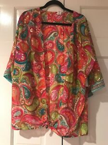 Trina Turk Swim Collection Kimono Size S New With Tags Made In California