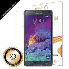 Samsung Galaxy Note 4 Screen Protector 3x Anti-Scratch HD Clear Cover Guard Film