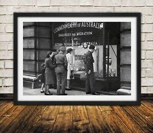Australian Migration 1940s  - High Quality Premium Poster Print