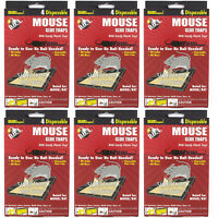 24 PC MOUSE MICE STICKY GLUE TRAPS Rodent Pest Control Tray Board Disposable Lot