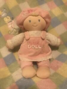 "Baby Gund My First Dolly Plush Stuffed Doll  12"" Blonde/blue Eyes New"