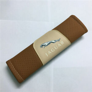 2Pcs Brown High Quality Car Seat Belt Shoulder Cover Pad Fit For Jaguar Auto