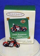 Hallmark Miniature Ornament Harley Motorcycle #5 2003 1948 Panhead Bike Die Cast