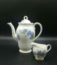 More details for royal adderley cornflower coffee pot /milk jug/sugar bowl-excellent condition