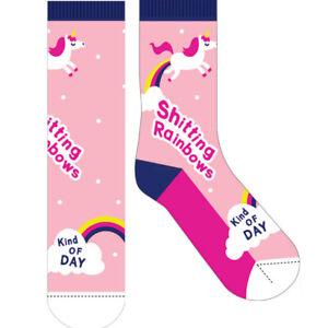 "NEW Novelty Fun Socks - The Latest Craze in Socks! ""Rainbow Day"""