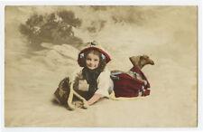 c 1910 Child Children PRECIOUS LITTLE GIRL Cute photo postcard