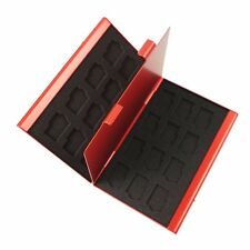 Red Aluminum Memory Card Carry Case 24 Slots f/ Compact Flash Card Lexar SanDisk