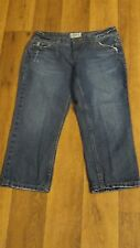 '10 *Aeropostale* Wmn's 1/2 Low Whisker Destroyed 5 Pkt Cotton Cropped Jeans
