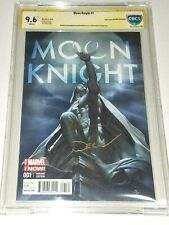 Moon Knight #1 Granov Variant CBCS 9.6 NM+ 2014 SS Signed by Granov and Shalvey
