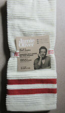 "Jamie Oliver Set of Two Terry Towels 16"" x 28"" featuring fun and fresh stripes"