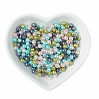 400pcs Pastel Mix Pearlized Glass Pearl Beads Mixed Color 4mm Jewelry Crafting