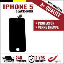 A+ LCD VITRE TACTILE DISPLAY/SCHERM/ÉCRAN BLACK NOIR & VERRE TREMPÉ FOR IPHONE 5