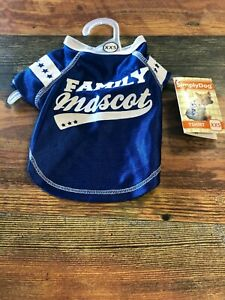 SIMPLY DOG FAMILY MASCOT JERSEY SIZEX XS COLOR BLUE AND WHITE