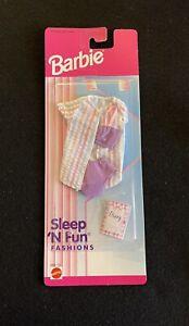 Barbie 1996 Sleep N Fun Fashions Outfit Purple Bra Panties New Mattel