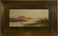 E. Lewis - Signed & Framed Late 19th Century Watercolour, The Mountainside Lake