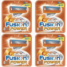 NEW AUTHENTIC Gillette Fusion Power Razor Blades Cartridge Refills - 32 Count