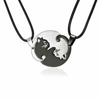 Stainless Steel Heart Love Animal Cat Pendant Necklace Mother Day Hot Sale Gift
