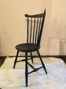 Original Antique Early 1700's/1800's Fan Back Windsor Chair-Beautiful!