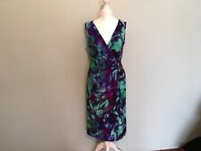 Precis size 10 Blue & Purple Paterned Dress