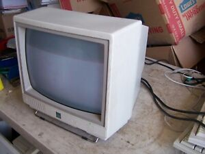 Vintage IBM PC Jr CRT Monitor Color Display 4863 - Estate Sale SOLD AS IS