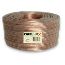 100m 2x1,5 mm² Boxenkabel Transparent Lautsprecherkabel CCA Kupfer PremiumX