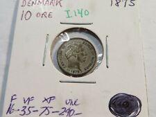 I140 Denmark 1875 10 Ore Catalog Value UNC=$240