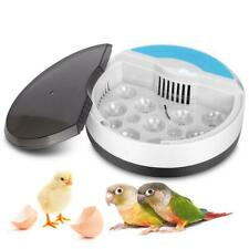 Digital Egg Incubator Manual Turning 9 Eggs Poultry Hatcher Chicken Bird