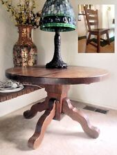 Antique High Stylish German Quartersawn Oak Table and Four chairs set So Rare!!!