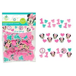 MINNIE MOUSE 1ST FUN TO BE ONE BIRTHDAY PARTY SUPPLIES TABLE SCATTERS CONFETTI