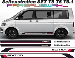 Seitenstreifen Aufkleber T6 T6.1 T5 T4 Set EDITION NEU 2 farbig Wunschfarbe