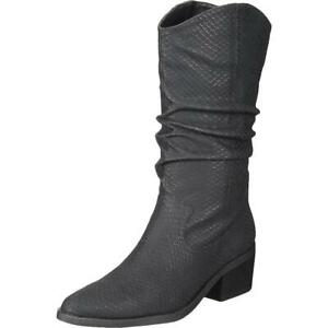 Dolce Vita Womens Zelie Casual Textured Cowboy, Western Boots Shoes BHFO 0061
