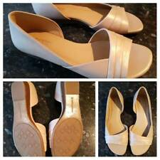 Naturalizer comfort wide flats with peep toe - As new - Taupe/metalic - Size AU9
