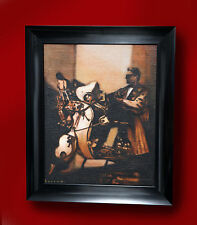 DAVID BARROW ORIGINAL OIL PAINTING 'COOL MOD ON VESPA SCOOTERS' NORTHERN ARTIST