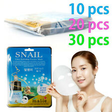 [Malie] SNAIL Facial Mask Sheet Essence 10-30pcs Korean Beauty Cosmetics