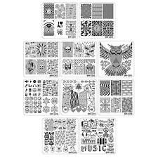 Bundle Monster 10pc Nail Art Manicure Stamping Plates-Musik City Collection