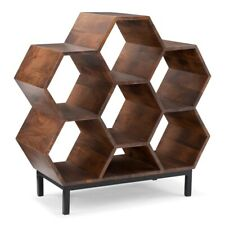 Powell Diem Wood Bookshelf in Hazelnut Brown