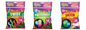Satin/Twist/Patterned Spiral Balloons Latex Multi-colored Birthday Wedding Party
