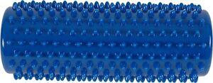 x2 16cm Blue Spikey Massage Roller - Yoga, Stress, Pilates, Reflexology Trigger