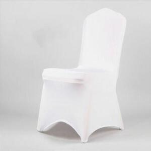 100/50 White Covers Spandex Lycra Chair Cover Wedding Banquet Party ARCHED FRONT