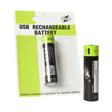 18650 3.7 V 1500 mAh AA Rechargeable Lithium Battery with Micro Charging USB