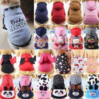 Hunde Kapuzenpulli Pullover Haustier Taschen Hoodie Warme Welpe Katze Kleidung