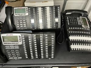 Lot of 3 Allworx 9224 VoIP Business Office Phone W/ 7 *Tx 92/24 Expansions