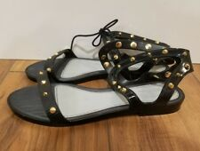 MELISSA + JASON WU Artemis Studded Jelly Sandals SZ 6 $125 Black Gold