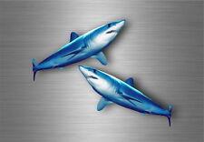 2x sticker adesivi adesivo pesca pescadore pesce squalo murali moto auto