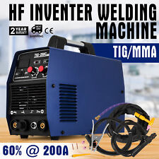 TIG 200 Ampere HF-Zündung Inverter Schweißgerät WIG/MMA Schweißgerät+ Zubehör