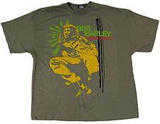 BOB MARLEY LOUNGE T-shirt Rasta Reggae ZION ROOTSWEAR Tee Adult 3XL Olive New