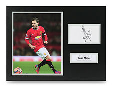 Juan Mata Signed 16x12 Photo Manchester United Autograph Display Memorabilia COA