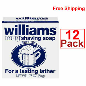 Williams Mug Shaving Soap - 1.75 oz (12 pack) ALWAYS FRESH ! ! !