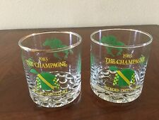 THE CHAMPAGNE 1983 HICKORY TREE STABLE - PAIR OF TUMBLERS
