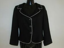 Womens HOBBS Black Button Down Formal Jacket Size UK 10 Great condition!!!